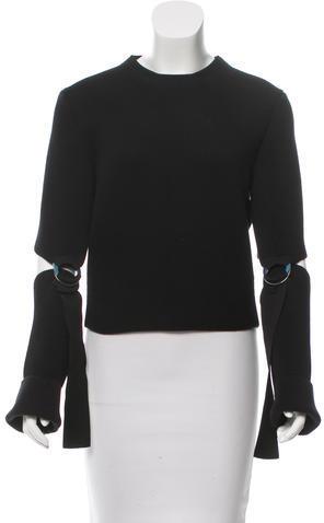 CelineCéline Cutout Crew Neck Sweater w/ Tags