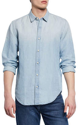 7 For All Mankind Men's Roadster Long-Sleeve Button-Down Linen/Cotton Shirt