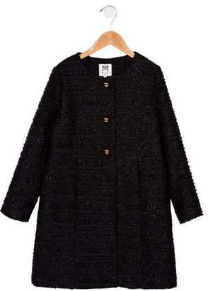 Milly Minis Girls' Metallic Longline Jacket