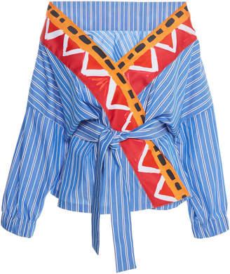 Stella Jean Cotton Wrap Top