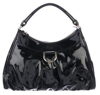 Gucci Patent D-Ring Hobo