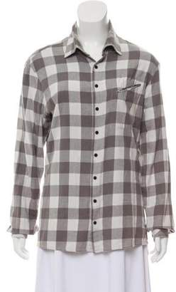 Baja East Plaid Long Sleeve Top