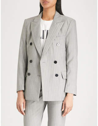 Mo&Co. Pinstriped wool jacket
