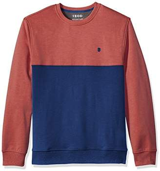 Izod Men's Advantage Performance Color Block Crew Fleece