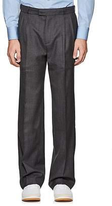 Gosha Rubchinskiy Men's Pinstriped Wool Pleated-Front Trousers