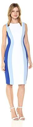 Calvin Klein Women's Sleeveless Multi Seamed Sheath Dress