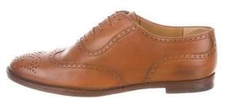 Ralph Lauren Brogue Pointed-Toe Oxfords