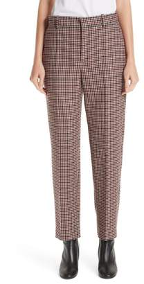 Balenciaga Stretch Wool Check Pants