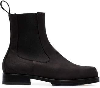 Alyx black flat Vibram sole leather Chelsea boots