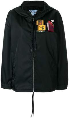 Prada patches front zip jacket