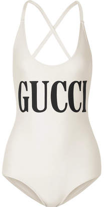 Gucci Printed Swimsuit - Ivory