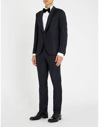 Eleventy Shawl-lapel slim-fit wool suit
