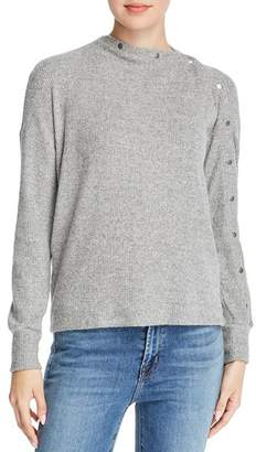 Red Haute Snap Detail Sweater