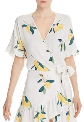 Rails Athena Lemon Print Wrap Top