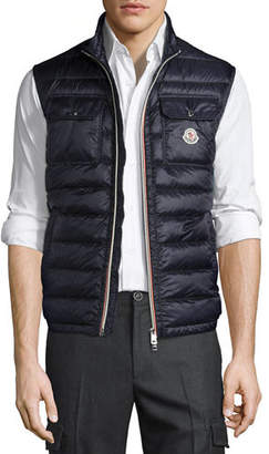 Moncler Achilles Quilted Puffer Vest $650 thestylecure.com