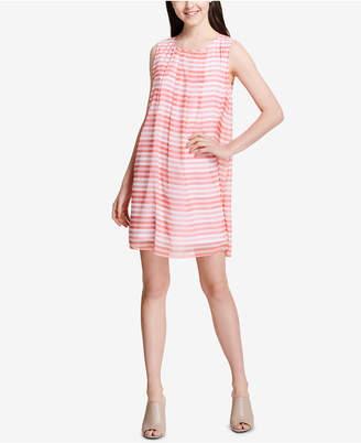 Calvin Klein Printed Sleeveless Shift Dress