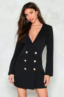 Nasty Gal Desperately Seeking Susan Blazer Dress