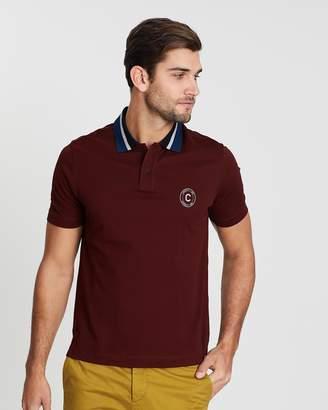 Cerruti Print Logo Contrast Collar Polo Shirt