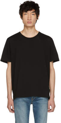 Saint Laurent Black Embroidered Logo T-Shirt
