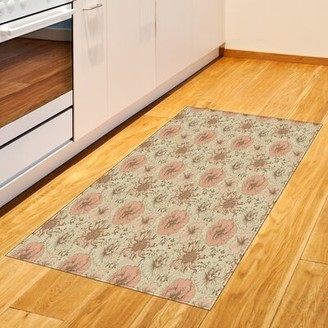 East Urban Home Exotic Hibiscus Plant Light Green Area Rug East Urban Home