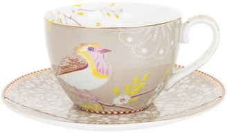 Pip Studio Early Bird Cappuccino Cup & Saucer - Khaki