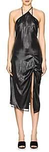 Helmut Lang Women's Silk-Blend Lamé Slipdress - Silver