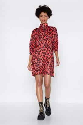Nasty Gal Pet Me Leopard Print Dress