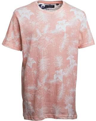 Brave Soul Junior Boys Tropical T-Shirt Summer Pink/Ecru