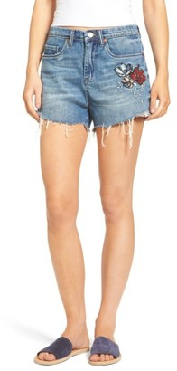 Women's Blanknyc Embroidered Denim Shorts $88 thestylecure.com