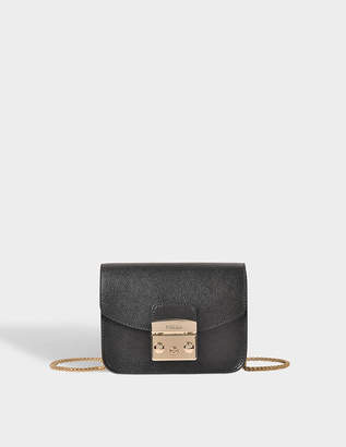 Furla Metropolis Mini Crossbody Bag in Onyx Ares Leather