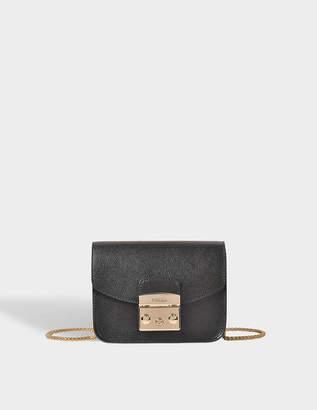 Furla Metropolis Mini Crossbody Bag in Onyx Ares Leather