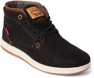 Levi's Black & Tan Goshen Mid-Top Sneakers