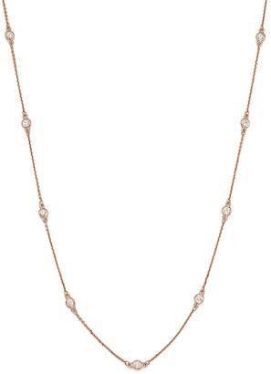 Bloomingdale's Diamond Bezel Station Necklace in 14K Rose Gold, .70 ct. t.w. - 100% Exclusive