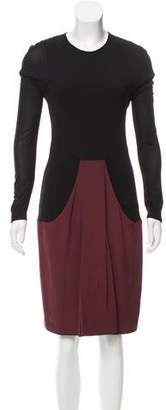 Akris Long Sleeve Knee-Length Dress