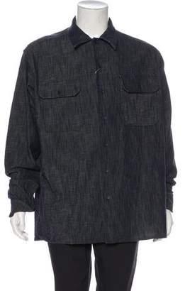 Maison Margiela 2017 Oversize Denim Button-Up Shirt w/ Tags