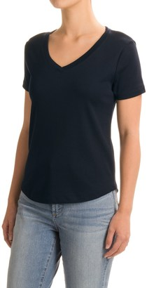 Workshop Republic Clothing Supima® Cotton T-Shirt - V-Neck, Short Sleeve (For Women) $9.99 thestylecure.com