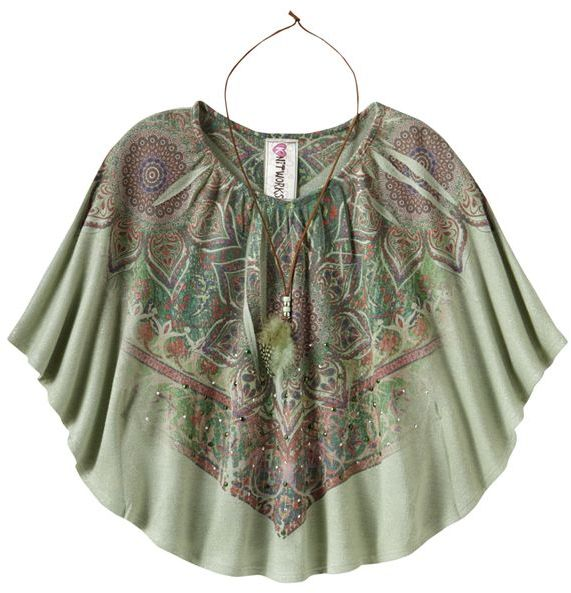 Knitworks medallion sublimation circle top - girls plus
