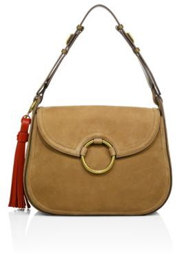 Tory Burch Tory Burch Tassel Suede Large Shoulder Bag
