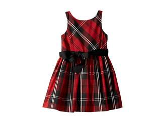 Polo Ralph Lauren Belted Pleated Georgette Dress (Toddler)