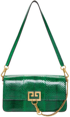 Givenchy Green Snake Small Charm Shoulder Bag