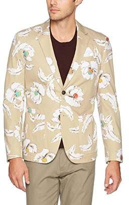 Jack Spade Men's Poppy Flower Print Sport Coat