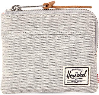 Herschel Light Grey Johnny Zip Wallet