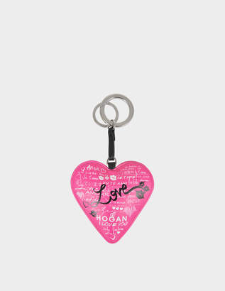 Hogan Heart leather bag charm's
