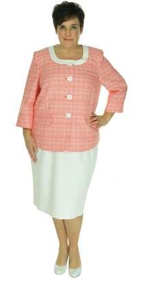 Le Suit LeSuit Women's Papaya Crosshatch Skirt Suit