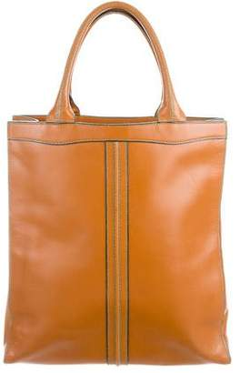 Valextra Textured Leather Tote