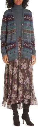 Polo Ralph Lauren Alina Midi Silk Wrap Skirt