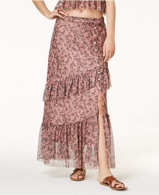 American Rag Juniors' Printed Mesh Maxi Skirt, Created for Macy's