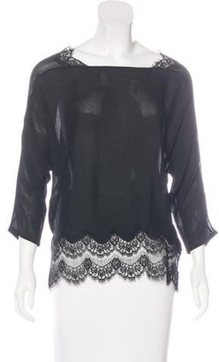 Sandro Lace-Trimmed Backless Top $75 thestylecure.com
