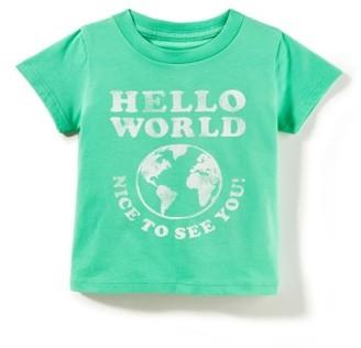Infant Peek Hello World T-Shirt $24.50 thestylecure.com