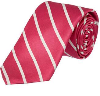 Ike Behar Hot Pink Sunday Stripe Silk Tie